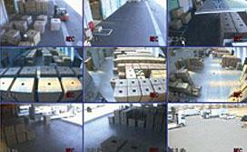 倉庫のカメラ映像